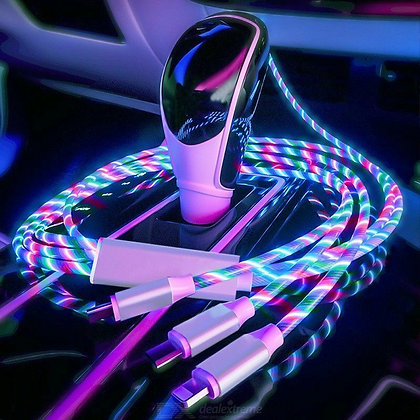 3 In 1 LED Flowing Light Up Charging Cable
