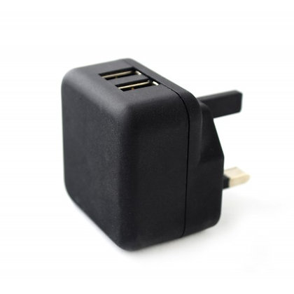UK Mains Charger with Twin USB Socket