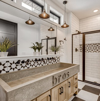 Kids bathroom with custom sink