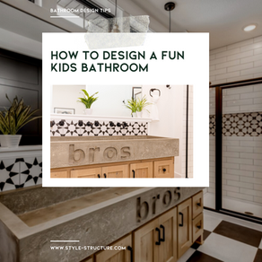 How to Design a fun Kids Bathroom