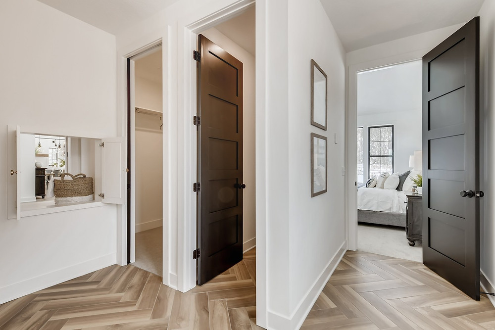 master bath, bedroom and pass. through