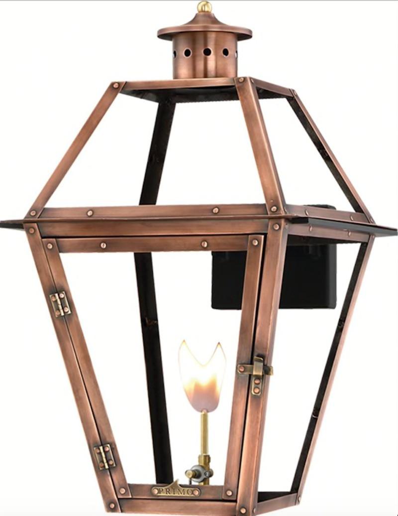 Copper gas lantern