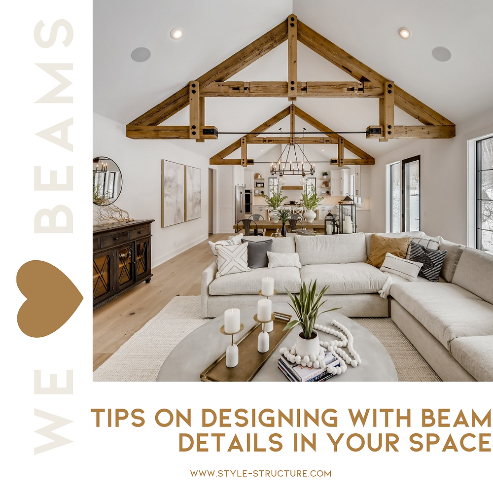 Design tips for using rustic beams in your home