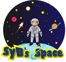 SyBs Space - Final Logo on moon - transp