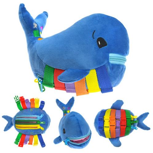Whaliey-Sensory Plush Whale