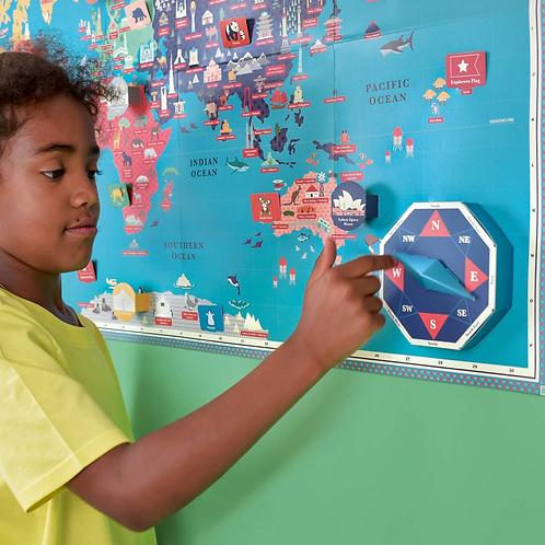 Create A Giant World Map Kit