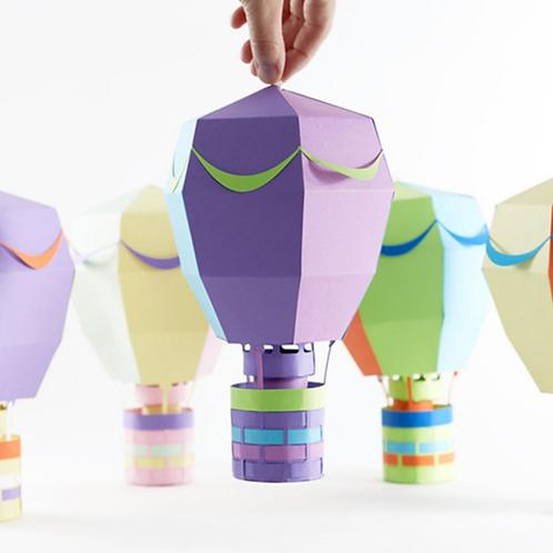 DIY Hot Air Balloon Paper Craft