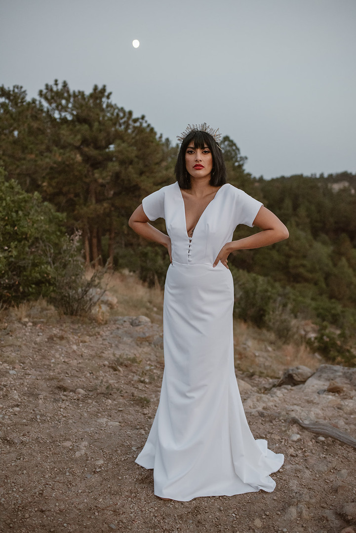Fortuna wedding dress by Hyacinth Bridal