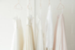 a Few dresses hanging in our studio