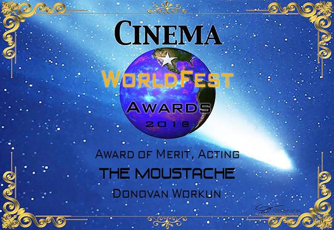 Awards for The Moustache Cinema World Fest - Congrats Team!