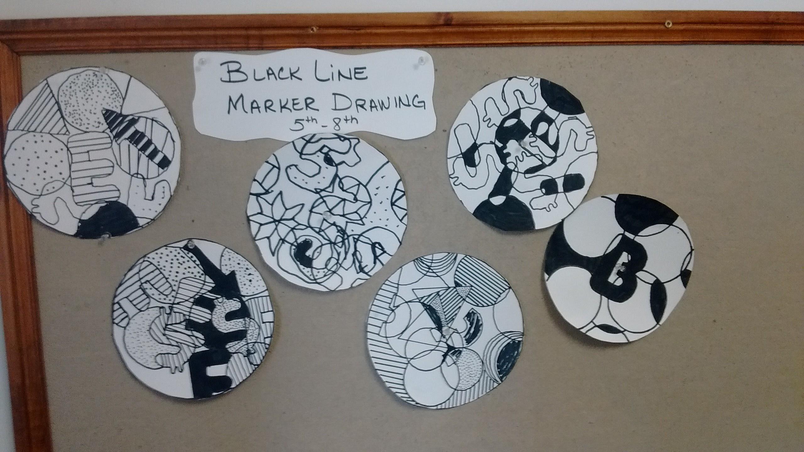 Black Line Marker Art Project