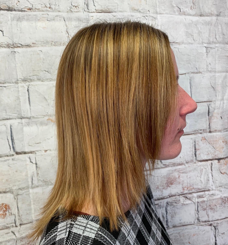 Coupe cheveux longs + séchage