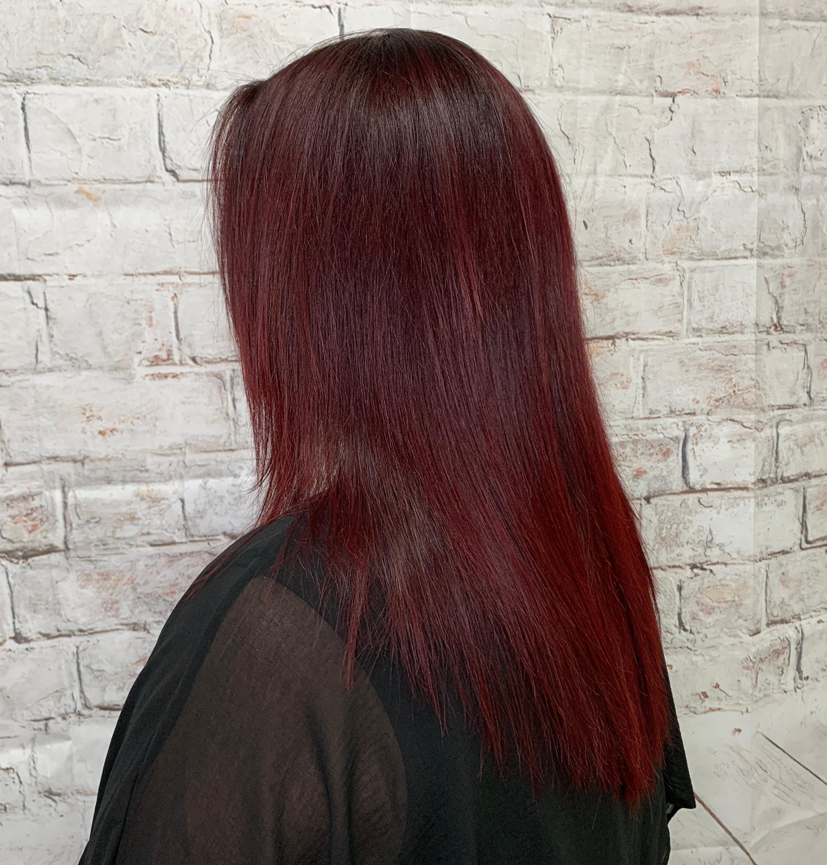 Coloration cheveux longs