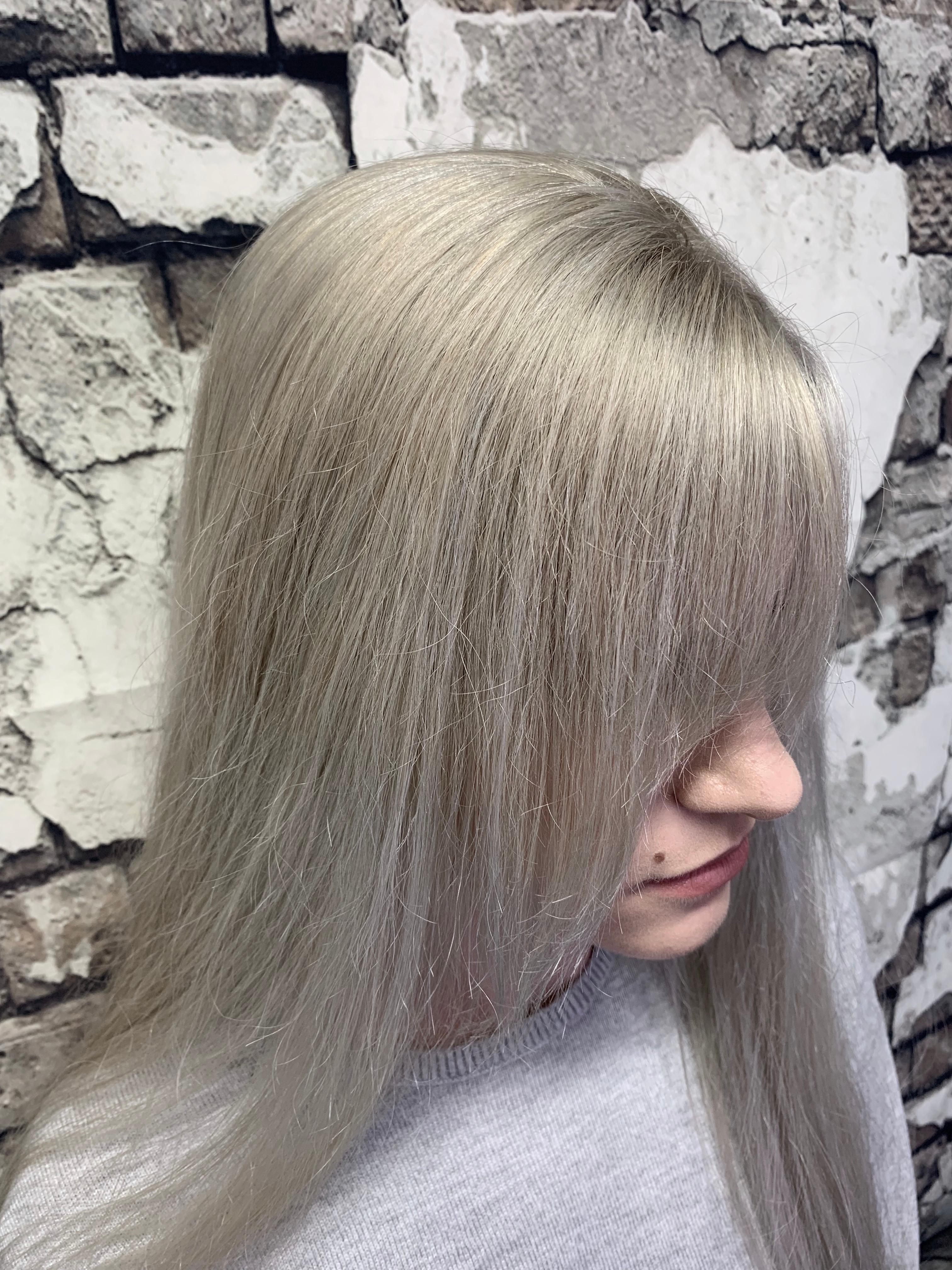 Décoloration cheveux long
