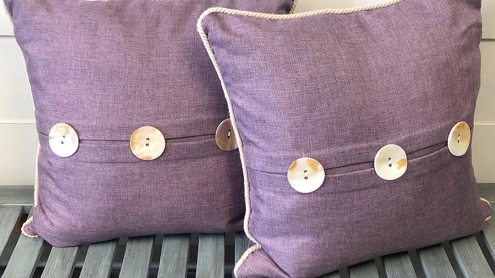 Purple Linen Accent Pillow