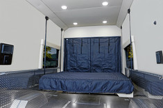 Trail Wagon TFE Rear Interior with Bed Extended