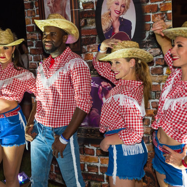Vision Dance Co's Cowboy and Cowgirl dancers