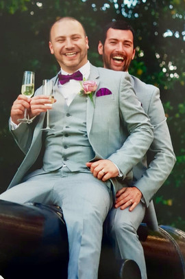 Happy Just Married Grooms