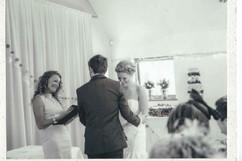 Celebrant Karlina conducting a wedding ceremonyBen & Zoe.