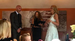 Celebrant Karlina conducting wedding ceremony