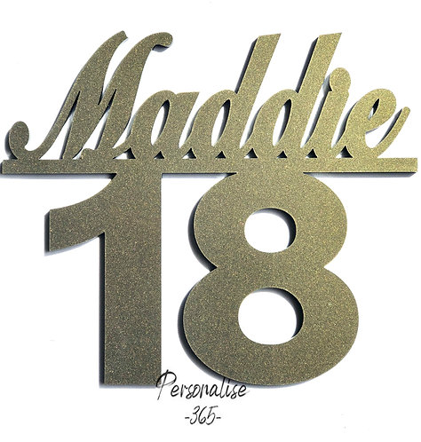 Gold or Silver 18th Birthday Cake decoration Personalised