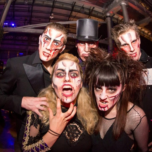 Vision Dance Co Thriller Nights perfomers with scary make up