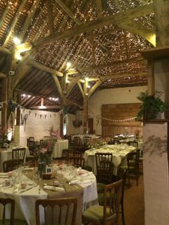 Beautiful barn wedding reception
