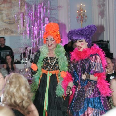 Vision Dance Co's intereactive characters as the ugly sisters from Cinderella