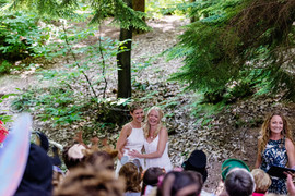 Independent celebrant Karlina conducting a civil ceremony