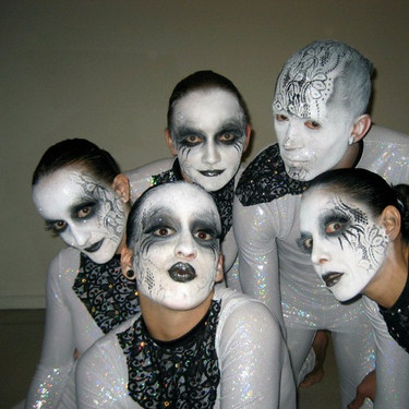 Vision Dance Co's Cyber Burlesque circus performers make up and costumes
