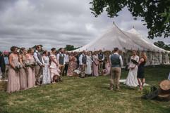 Celebrant led outdoor wedding ceremony