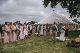 Celebrant led outdoor wedding ceremony