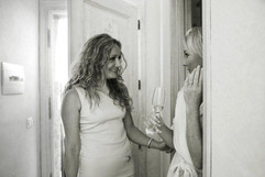 Celebrant Karlina and a bride on her wedding day.j