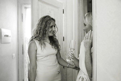 Karlina and a bride on her wedding day.j