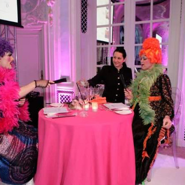Vision Dance Co's ugly sisters from their Cinderella corporate entertainment performance