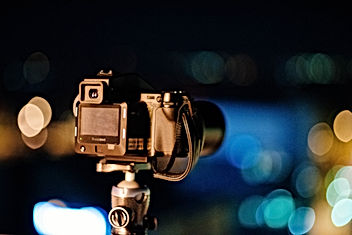 Câmera em pé