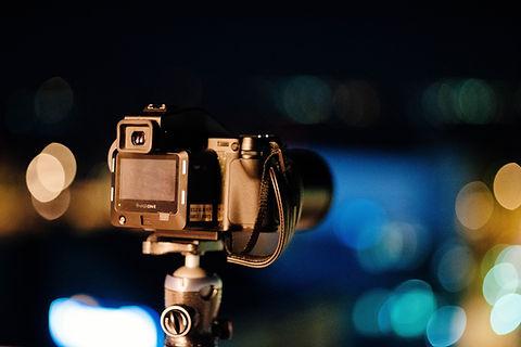 Macchina fotografica in piedi