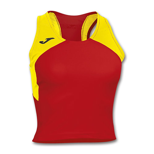 CAMISETA RECORD WOMAN ROJO-AMARILLO S/M