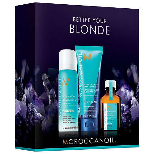 Kit Moroccanoil Better Your Blonde