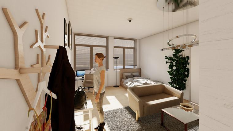 fca Architekten Visualisierung Studentenwohnheim Schlieperstraße Berlin