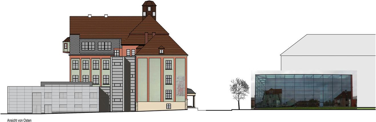 TU Ilmenau Faraday Bau Fassade