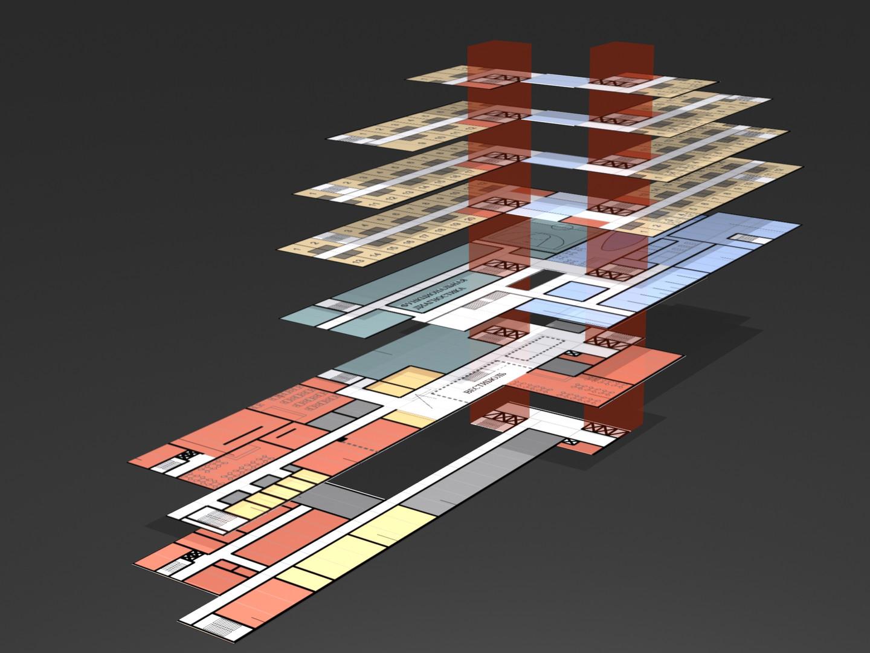UKTUS Rehabilitationsklinik und Hotel fca Architekten Funktionsmodell