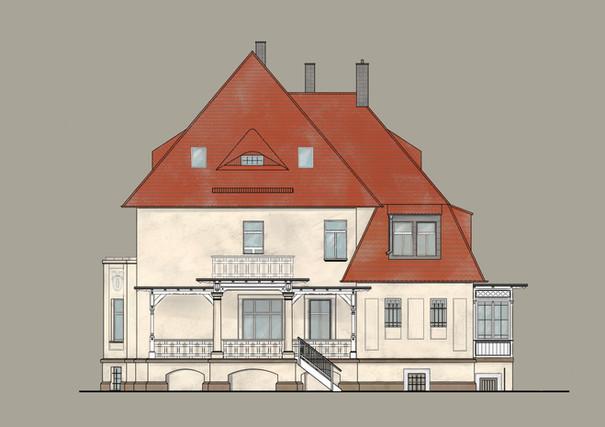 Sanierung fca Architekten Fassadenansich