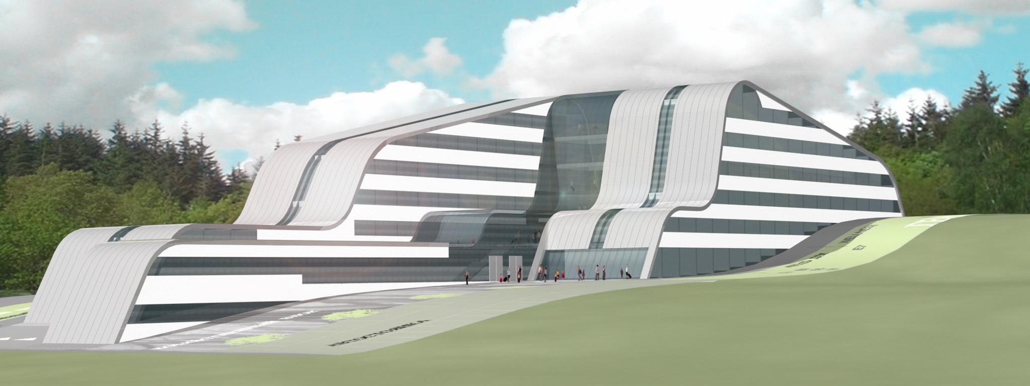 UKTUS Rehabilitationsklinik und Hotel fca Architekten Visualisierung