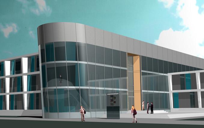 Kardiologisches Zentrum Pavlodar Eingang fca Architekten