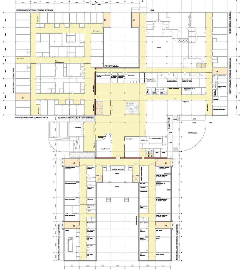 Nishnij Tagil Medizinisches Zentrum Grundriss
