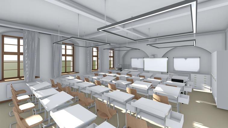 Reussisches Rutheneum Gera Sanierung Schulgebäude Kunstraum fca