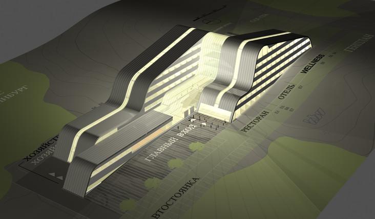 UKTUS Rehabilitationsklinik und Hotel fca Architekten Visulalisierung