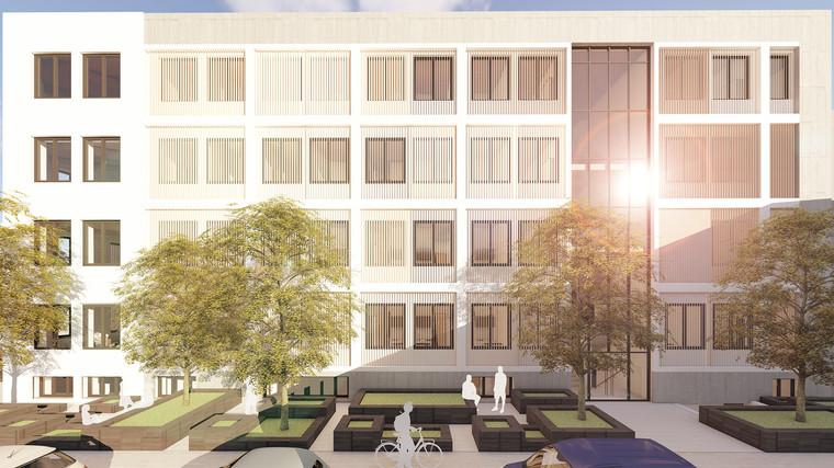 fca Architekten Visualisierung Studentenwohnheim Schlieperstraße Berlin Fassade