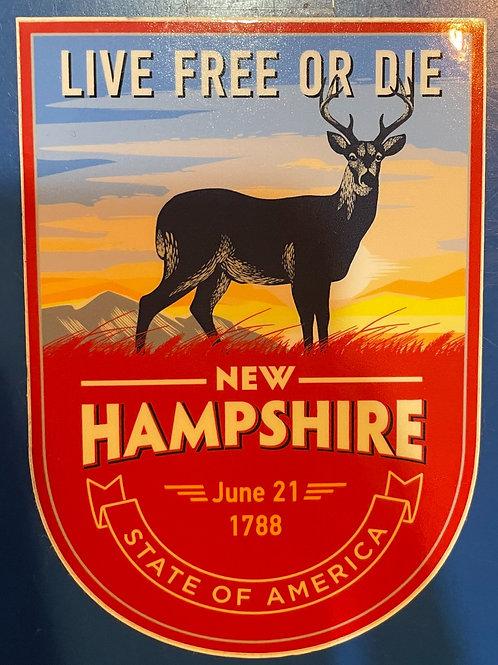 NH Deer Sticker